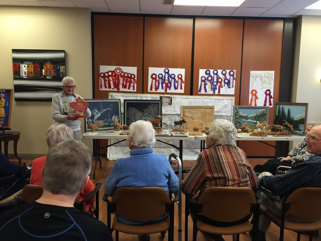 Tiffany Resident, Roderick Deon demonstrates his craft of woodworking during our Culture & Creativity Series