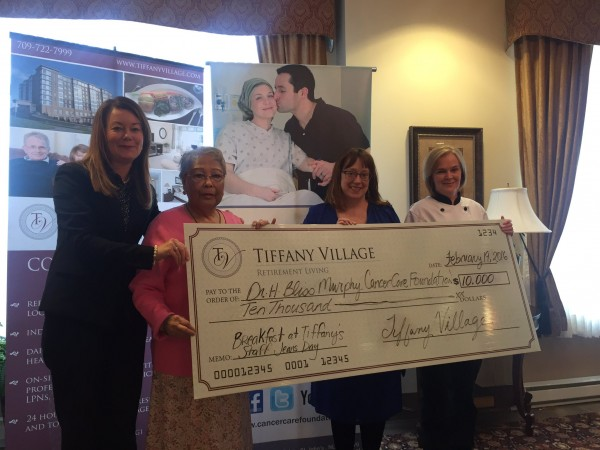 Tiffany Village raises $10,000 for the Dr. H. Bliss Murphy Cancer Care Foundation